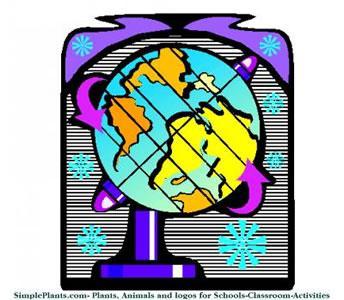 a rotating globe